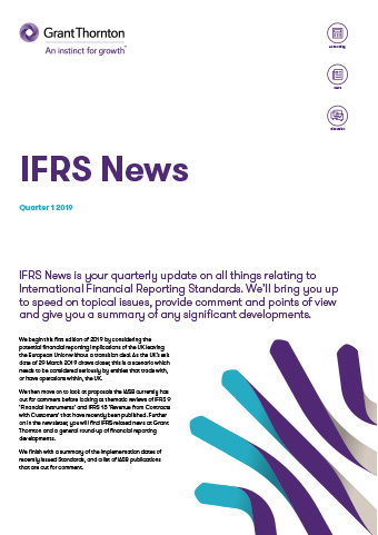 IFRS News - Q1 2019