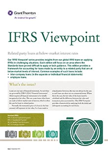 IFRS Viewpoint - party loans